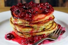 Pancake aromatizzati dello zabaione Immagine Stock Libera da Diritti