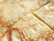 Pancake background. Pancake macro slices Stock Photography