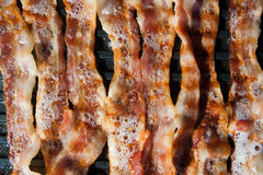 Pancake. And bacon for breakfast Stock Photo