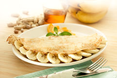 Pancake banana Royalty Free Stock Photography