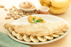 Pancake banana Royalty Free Stock Image