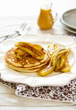 Pancake with banana Stock Image