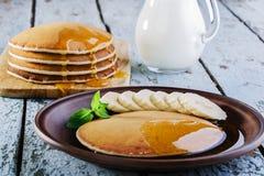Pancake banana Royalty Free Stock Images