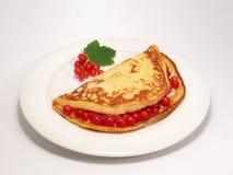 Pancake with berries Stock Photos