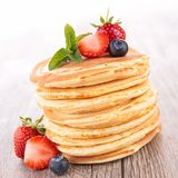 Pancake and berry Royalty Free Stock Photography