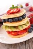 Pancake and berry Stock Photo