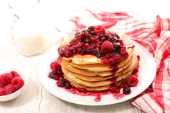Pancake with berry fruit Stock Image