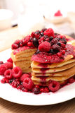 Pancake with berry fruit Stock Images
