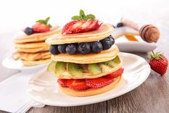 Pancake and berry Royalty Free Stock Image