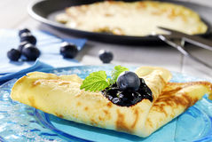 Pancake with blueberry Royalty Free Stock Photo
