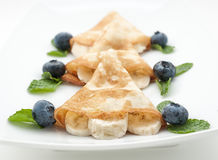 Pancake with blueberry Royalty Free Stock Photography