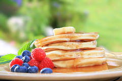 Pancake breakfast Royalty Free Stock Photography