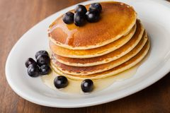 Pancake. Buckwheat Blueberry Breakfast Healthy Eating Whole Wheat Cereal Plant Stock Images