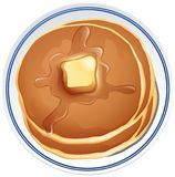 Pancake with butter on the plate. Illustration Royalty Free Stock Images