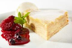 Pancake Cake with Ice Cream Royalty Free Stock Image