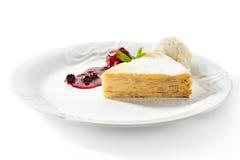 Pancake Cake with Ice Cream Royalty Free Stock Photography