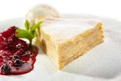 Pancake Cake with Ice Cream Stock Photos