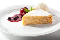 Pancake Cake with Ice Cream Royalty Free Stock Photo