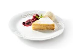 Pancake Cake with Ice Cream Royalty Free Stock Images