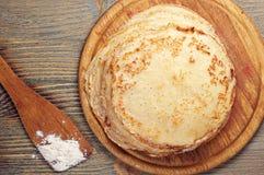 Pancake casalinghi Immagini Stock Libere da Diritti