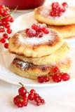 Pancake casalinghi squisiti del formaggio Fotografie Stock