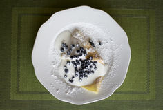 Pancake casalingo immagine stock
