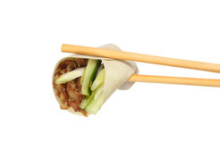 Pancake in chopsticks Stock Photos