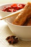 Pancake cinese del riso Immagini Stock Libere da Diritti