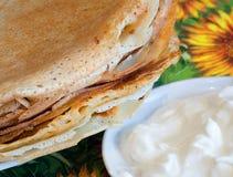 Pancake con acido Immagini Stock