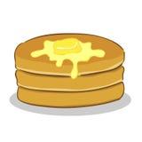Pancake con burro Immagini Stock