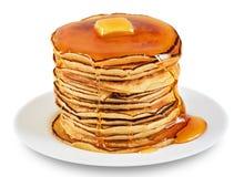 Pancake con burro e sciroppo Immagine Stock