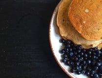 Pancake con il mirtillo Fotografia Stock Libera da Diritti