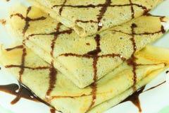 Pancake con il riempimento Fotografia Stock