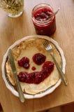 Pancake con inceppamento Immagine Stock Libera da Diritti