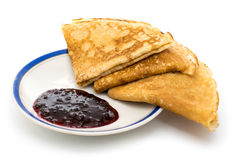 Pancake con inceppamento Fotografie Stock
