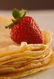 Pancake con la fragola Fotografia Stock Libera da Diritti
