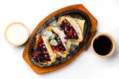 Pancake con le bacche Fotografia Stock Libera da Diritti