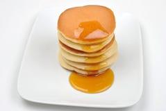 Pancake con miele Fotografie Stock