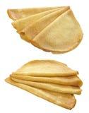 pancake con olio su una priorità bassa bianca Immagine Stock Libera da Diritti