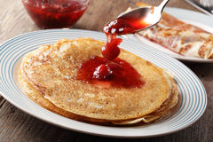 Pancake con ostruzione Fotografia Stock