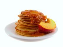 Pancake con ostruzione Fotografia Stock Libera da Diritti