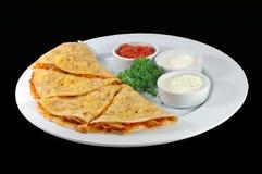 Pancake con salsa Immagini Stock