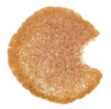 Pancake con un morso alimentare immagine stock libera da diritti