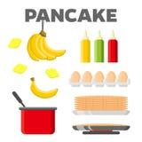 Pancake cooking ingredients vector constructor Stock Photos