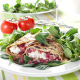 Pancake with cottage cheese Stock Photo
