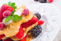 Pancake. Crepes With Berries Stock Photography