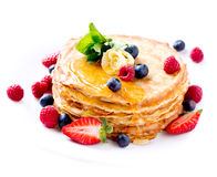 Pancake. Crepes With Berries Royalty Free Stock Images