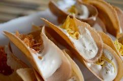 Pancake croccanti tailandesi Immagini Stock Libere da Diritti