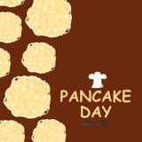 Pancake day congratulatory card Stock Photography