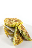 Pancake dei broccoli Immagine Stock Libera da Diritti